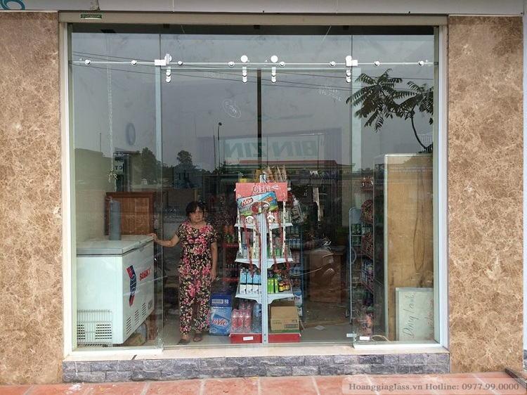 Cửa kính lùa ray lùa 10x30 giá rẻ tại Hà Nội