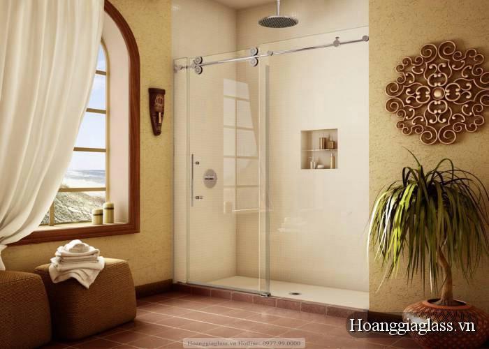 vách kính tắm đẹp hiện đại