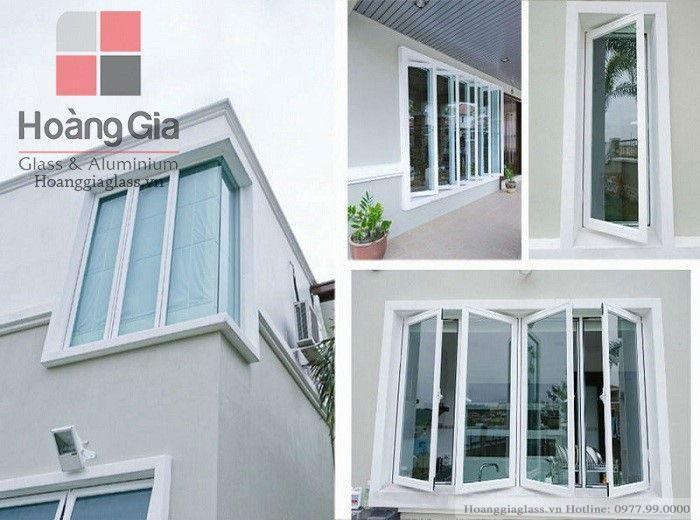 Cửa nhôm Việt Pháp cao cấp hệ cửa sổ mở cửa quay