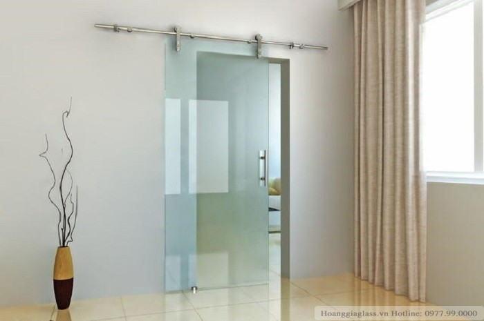 Vách tắm kính cửa lùa 1 tấm