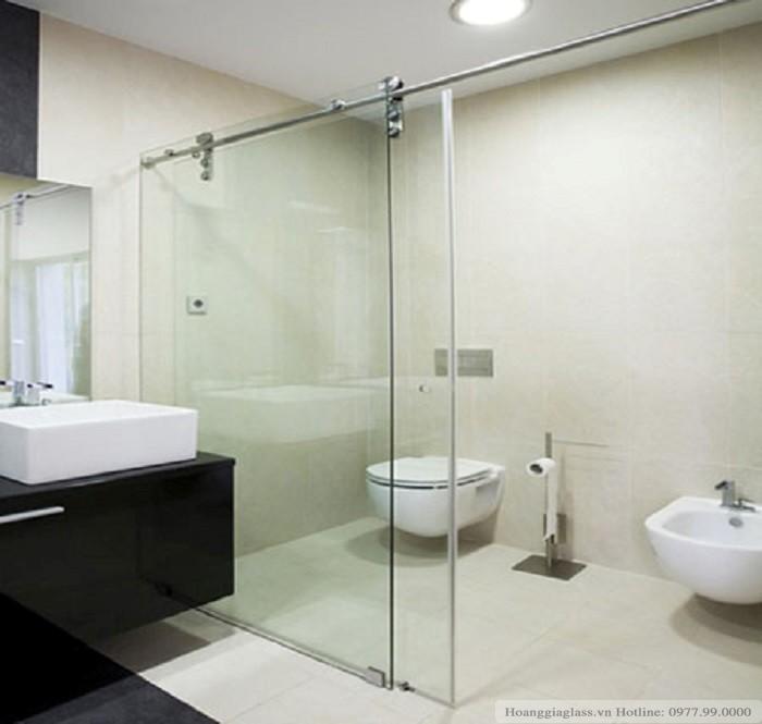 Vách tắm kính cửa lùa 2 tấm (Ảnh 2)