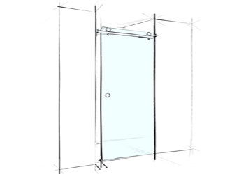 Vách tắm kính cửa lùa 1 cánh ảnh đại diện