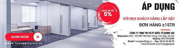 Lắp cửa kính cường lực chiết khấu cao đến 5%