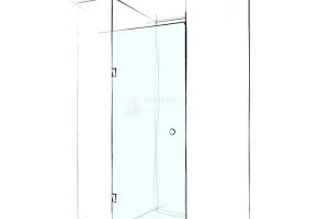 Mô hình vách tắm kính cửa mở 1 tấm