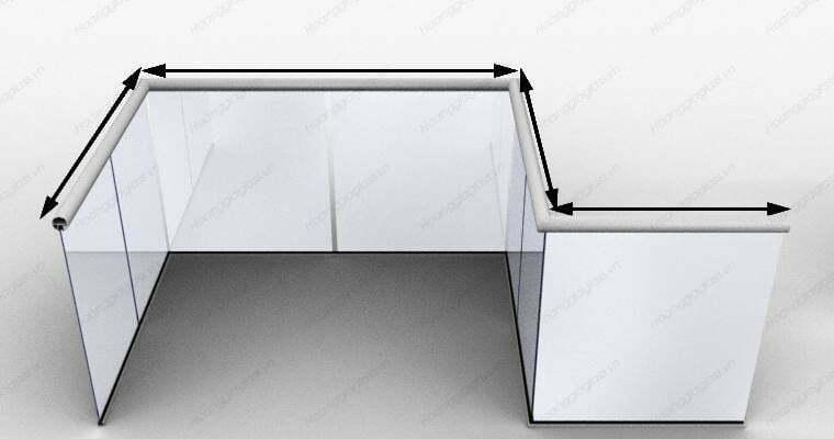Lan can kính ban công 4 mặt kính